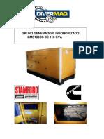 Catalogo Generador de 110 Kva