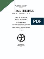 Patrologia Orientalis Jean Rulfus Historia de Calcedonia