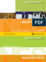 Diseño Curricular. Formación Específica. Ed. Física