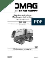 BOMAG Roller BMP 8500 Brugervejledning - EnG