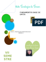 Tarea 1 - Reporte Del Modelo Relacional