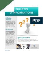 Bulletin Infos 16 Déc 2016