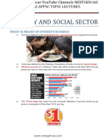 Poverty and Social Sector