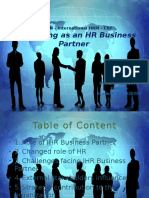 Developing as an HR Business Partner