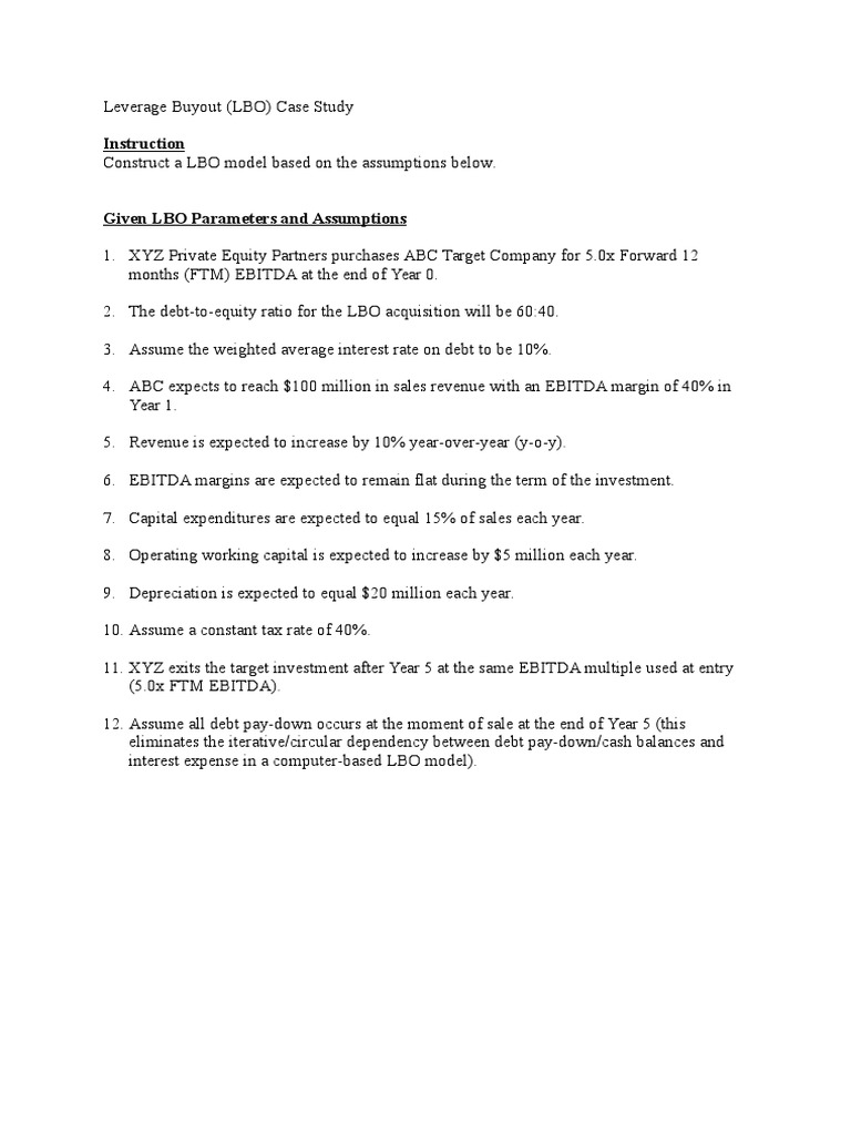 LBO Case Study
