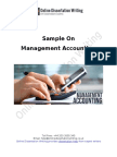 Sample Document on Management Accounting
