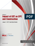 Workshop Impact of GST on EPC and Construction January2017