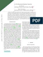 Nonlinear Two-Dimensional Quantum Capacitors