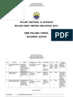 Pelan Taktikal Dan Operasi Bsmm 2017