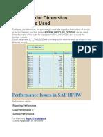 Display Cube Dimension Percentage Used