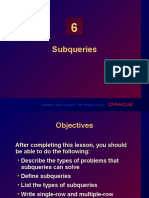 Chapter 06 - Subqueries