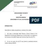 MH370 DCAM Announcement