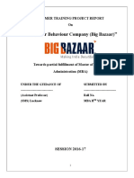 Consumer Behaviour Company (Big Bazaar)