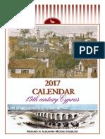 2017 Calendar - 19th century Cyprus (English)