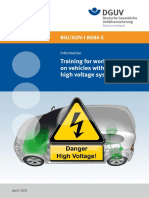 Training for Work on Vehicle With High Voltage Systems