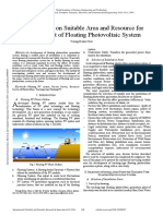 A Case Study on Suitable Area and Resource for Development of Floating Photovoltaic System
