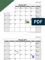 2017 Business Calendar With Indian Holidays List (1)