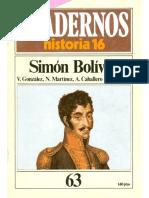 Cuadernos de Historia 16 063 Simon Bolivar 1985