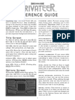 Privateer - Reference Card