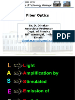 Lasers and optical fiber Dr. D. Dinakar.pptx