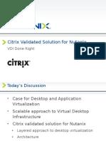 Nutanix Citrix CVS Joint Deck
