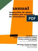 Manual Inspección de Obras Dañadas Por Corrosion de Armaduras