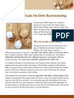 Sugar Stocks Gain on Debt Restructuring