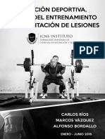 Nutricion Deportiva Ciencia Entrenamiento Lesiones