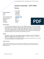 C_HANAIMP_12 - SAP Certified Application Associate - SAP HANA (Edition 2016 - SPS12) _ SAP Training