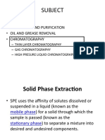 Solid Extraction & Tlc