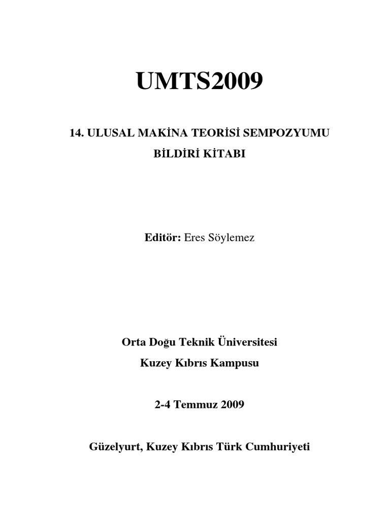 Umts2009bildirikitabi