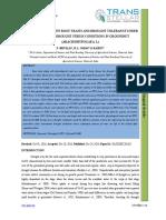 22. Agri Sci - IJASR-Association Between Root Traits and Drought Tolerance
