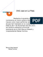 ONG Jazz en La Plata