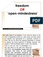 Freedom OR 'Open-mindedness'