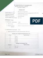 DICA Course Plan