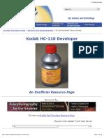 Kodak HC-110 Developer - Unofficial Resource Page