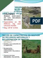 Exposición Sobre Rr Naturales-suelo y Vegetación