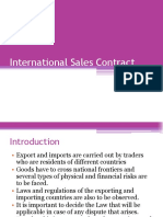 International Sales Contract
