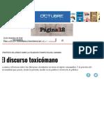 El Discurso Toxicómano _ Página12 _ La Otra Mirada