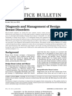 Diagnosis and management of Benign Breast Disorders
