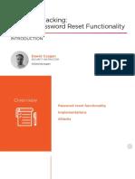 1 Web App Hacking Password Reset Functionality m1 Slides