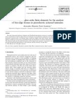 Mannini-Gaudenzi-2004-Higher Order FE-piezo Actuated Free Edge Stresses