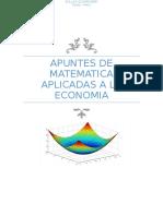 Apuntes de Matematica Aplicadas a La Economia