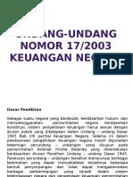 Undang-undang No. 17-2003 Kuneg