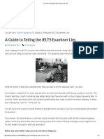 A Guide to Telling the IELTS Examiner Lies