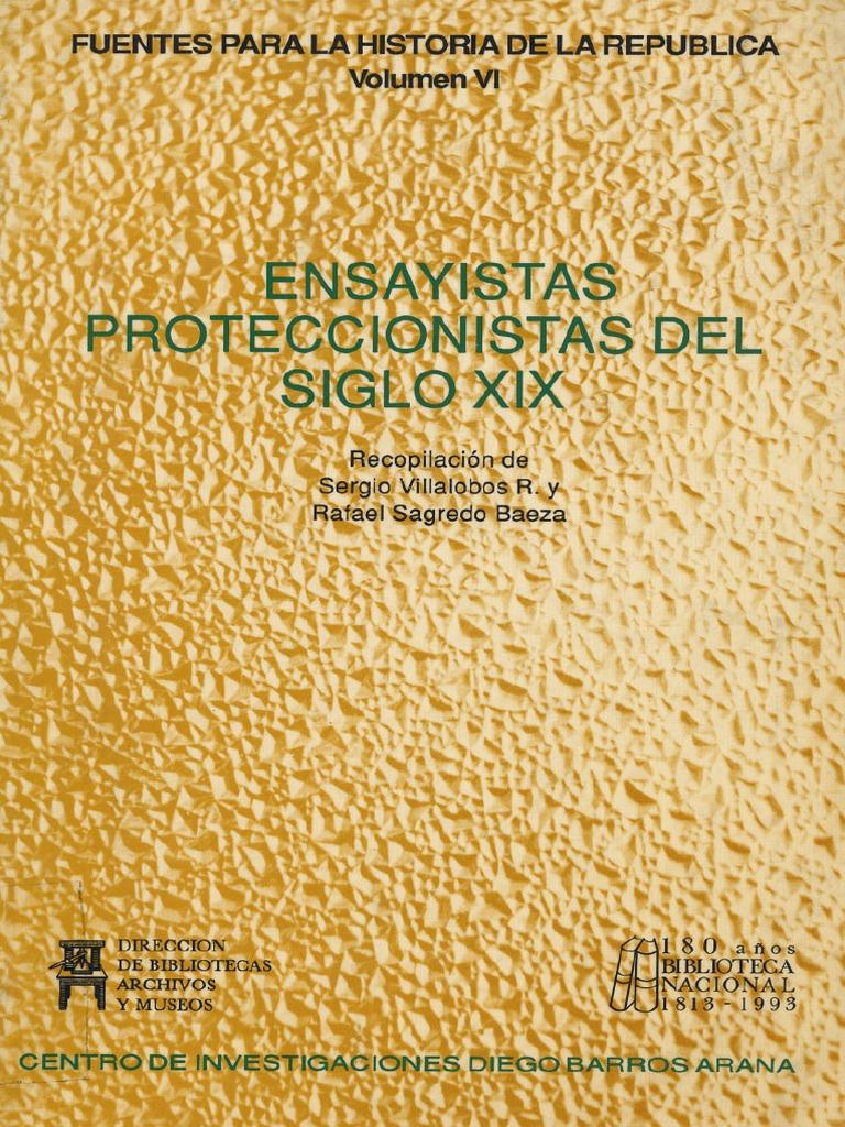 Ensayistas Proteccionistas Del Siglo Xix S Villalobos R  # Muebles Villalobos Ciales