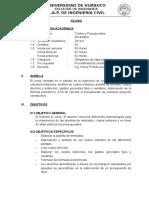 Silabo Costos 2013-II Universidad de Huanuco