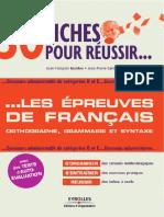 30fiches Pour Reussir Les Epreuves de Français[E-booksLand.com]