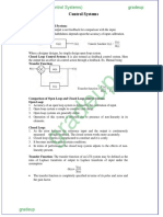 Formula Notes Control Systems
