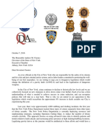 De Blasio and O'Neill Gravity Knives Letter